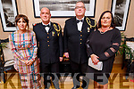 Fiona and Commandant Sean Murphy, Commandant  Brian and Noreen Rusk attending the Scoil Eoin Valentine's Ball Fundraiser in the Ballygarry House Hotel on Friday night