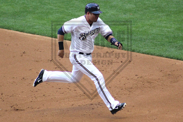 MILWAUKEE - June 2012: Aramis Ramirez (16) of the Milwaukee Brewers during a game against the Toronto Blue Jays on June 18, 2012 at Miller Park in Milwaukee, Wisconsin. (Photo by Brad Krause). ..