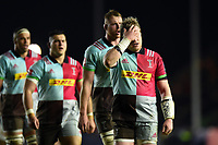 Renaldo Bothma of Harlequins looks dejected. European Rugby Champions Cup match, between Harlequins and Wasps on January 13, 2018 at the Twickenham Stoop in London, England. Photo by: Patrick Khachfe / JMP