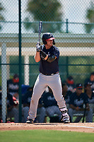 GCL Braves Mason Berne (20) bats during a Gulf Coast League game against the GCL Pirates on July 30, 2019 at Pirate City in Bradenton, Florida.  GCL Braves defeated the GCL Pirates 10-4.  (Mike Janes/Four Seam Images)
