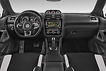 Stock photo of straight dashboard view of a 2015 Volkswagen SCIROCCO R 3 Door Hatchback 2WD Dashboard