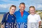 TRIATHLON: Taking part in the Kerryhead Triathlon in aid of Enable Ireland at Ballyheigue on Saturday l-r: Helen Caulfield, Seamus Smith and Siobhan Caulfield.