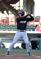 April 23, 2004:  John-Ford Griffin of the New Hampshire Fisher Cats, Double-A Eastern League affiliate of the Toronto Blue Jays, during a game at Jerry Uht Park in Erie, PA.  Photo by:  Mike Janes/Four Seam Images