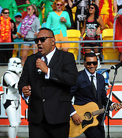 Entertainment on day one of the 2016 HSBC Wellington Sevens at Westpac Stadium, Wellington, New Zealand on Saturday, 30 January 2016. Photo: Dave Lintott / lintottphoto.co.nz