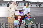 Knockaderry National School, Farranfore, Students front l-r Ruth Daly, Luke Ring Back l- Elaine O' Donoghue (Tom Crean) and Conor Henderson  were the first to see the Tom Crean History Box from the Kerry County Museum, The box contains artifacts Tom Crean might have used on his Arctic exploration, including a Tom Crean Costume. It will be on display at the Knockaderry NS open Evening on Friday April 4th 6.30pm - 7.30pm