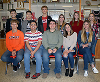 RICK PECK/SPECIAL TO MCDONALD COUNTY PRESS<br /> McDonald County High School will celebrate its 2019 basketball homecoming on Friday, Jan. 11 when the Mustangs and Lady Mustangs host Seneca. Games begin at 5 p.m. This year's homecoming court is, front row, left to right: Boston Dowd, Eugenio Mendoza, Jr., John Gordon (senior king candidates), Kitrell Henighen and Bailey McAlister (senior queen candidates). Back row: Matthew Mora, freshman king attendant; Irael Marcos, sophomore king attendant; Garrett Spears, junior king attendant; Taylor Tyson, junior queen attendant; Erin Cooper, sophomore queen attendant; and Kirklyn Kasischke, freshman queen attendant. Not present: Sam Frazier, senior queen candidate.