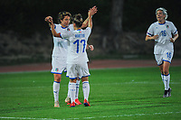 20190301 - LARNACA , CYPRUS : Italian forward Valentina Giacinti (left) celebrating her goal with Italian defender Lisa Boattin pictured during a women's soccer game between Hungary and Italy , on Friday 1 March 2019 at the GSZ Stadium in Larnaca , Cyprus . This is the second game in group B for both teams during the Cyprus Womens Cup 2019 , a prestigious women soccer tournament as a preparation on the FIFA Women's World Cup 2019 in France . PHOTO SPORTPIX.BE | STIJN AUDOOREN
