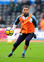 Burnley's Aaron Lennon during the pre-match warm-up <br /> <br /> Photographer Ashley Crowden/CameraSport<br /> <br /> The Premier League - Swansea City v Burnley - Saturday 10th February 2018 - Liberty Stadium - Swansea<br /> <br /> World Copyright &copy; 2018 CameraSport. All rights reserved. 43 Linden Ave. Countesthorpe. Leicester. England. LE8 5PG - Tel: +44 (0) 116 277 4147 - admin@camerasport.com - www.camerasport.com