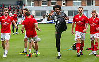 Fleetwood Town sport scientist Youl Mawene leads the war up<br /> <br /> Photographer Alex Dodd/CameraSport<br /> <br /> The EFL Sky Bet League One - Fleetwood Town v Accrington Stanley - Saturday 15th September 2018  - Highbury Stadium - Fleetwood<br /> <br /> World Copyright &copy; 2018 CameraSport. All rights reserved. 43 Linden Ave. Countesthorpe. Leicester. England. LE8 5PG - Tel: +44 (0) 116 277 4147 - admin@camerasport.com - www.camerasport.com