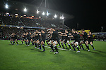 The All Blacks perform the haka before the Iveco rugby union international test match between the All Blacks and Canada at Waikato Stadium, Hamilton, New Zealand on Saturday 16 June 2007. The All Blacks won the match 64 - 13.
