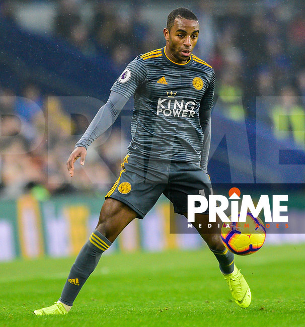 Ricardo Pereira of Leicester City (14) during the Premier League match between Brighton and Hove Albion and Leicester City at the American Express Community Stadium, Brighton and Hove, England on 24 November 2018. Photo by Edward Thomas / PRiME Media Images.