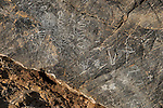 Petroglyphs in Titus Canyon, Death Valley National Park, California