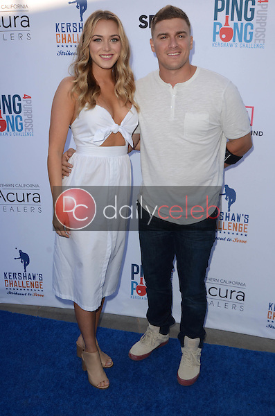 Mariana Vicente, Kike Hernandez<br /> at Clayton Kershaw's Ping Pong 4 Purpose Celebrity Tournament to Benefit Kershaw's Challenge, Dodger Stadium, Los Angeles, CA 08-11-16<br /> David Edwards/DailyCeleb.com 818-249-4998