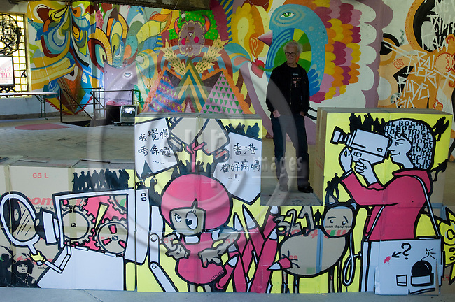 BERLIN - GERMANY 23 AUG 2008 -- At the Streetart and Urban Art Exhibition in Berlin. Some 45 street artists from nine countries where taking part in Germany's biggest-ever urban art exhibition in a forsaken red-brick brewery in the former communist east of Berlin temporary transformed into a gallery.  -- PHOTO: © GORM K. GAARE/  EUP- IMAGES.