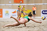 05.01.2019, Den Haag, Sportcampus Zuiderpark<br />Beachvolleyball, FIVB World Tour, 2019 DELA Beach Open<br /><br />Abwehr April Ross (#1 USA)<br /><br />  Foto &copy; nordphoto / Kurth