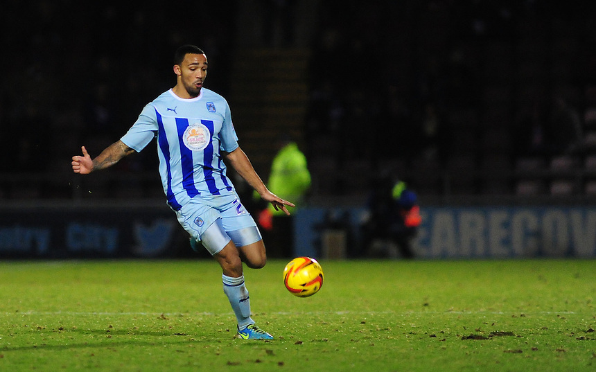 Coventry City's Callum Wilson <br /> <br /> Photo by Chris Vaughan/CameraSport<br /> <br /> Football - The Football League Sky Bet League One - Coventry City v Oldham Athletic - Sunday 29th December 2013 - Sixfields Stadium - Northampton<br /> <br /> &copy; CameraSport - 43 Linden Ave. Countesthorpe. Leicester. England. LE8 5PG - Tel: +44 (0) 116 277 4147 - admin@camerasport.com - www.camerasport.com