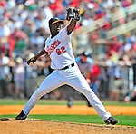14 March 2009: Baltimore Orioles' pitcher Radhames Liz in action during a Spring Training game against the Boston Red Sox at Fort Lauderdale Stadium in Fort Lauderdale, Florida. The Orioles defeated the Red Sox 9-8 in the Grapefruit League matchup. Mandatory Photo Credit: Ed Wolfstein Photo
