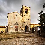 Church of St. Nicolai, Tuscany, Italy, from the hilltop above Monsummano Terme, Italy