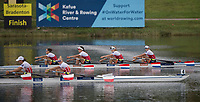 Sarasota. Florida USA.  Women's Quadruple final. Gold medalist, POL W4X and silver medalist. NED W4X.  2017 World Rowing Championships, Nathan Benderson Park<br /> <br /> Saturday  30.09.17   <br /> <br /> [Mandatory Credit. Peter SPURRIER/Intersport Images].<br /> <br /> <br /> NIKON CORPORATION -  NIKON D4S  lens  VR 500mm f/4G IF-ED mm. 200 ISO 1/1250/sec. f 4