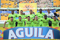 MEDELLIN-COLOMBIA, 9-AGOSTO-2017. Formación de La Equidad .Atlético Nacional y La Equidad durante partido por la fecha 6 de la Liga Aguila II 2017 jugado en el estadio Atanasio Girardot de la ciudad de Medellín. / Team of La Equidad. Atlético Nacional  and La Equidad during match for the date 6 of the Aguila League II 2017 played at Atanasio Girardot stadium in Medellin city. Photo:VizzoImage / León Monsalve / Stringer