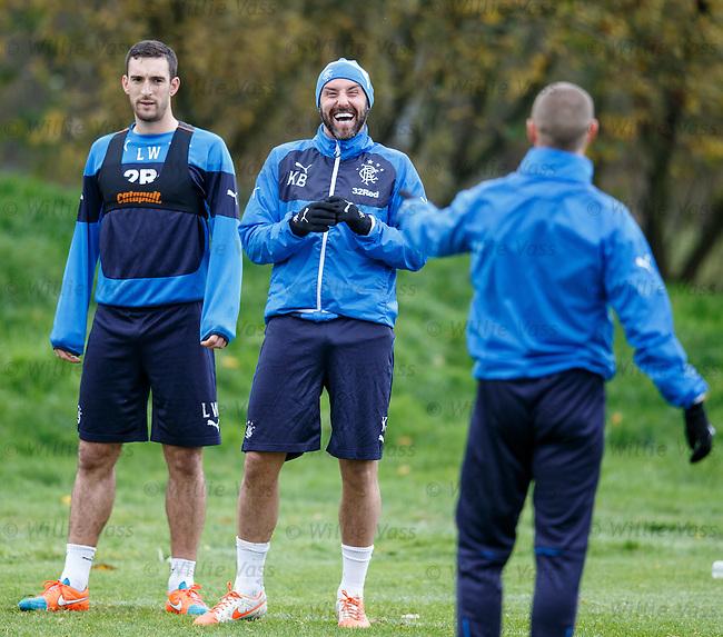 Kris Boyd laughing alongside Lee Wallace