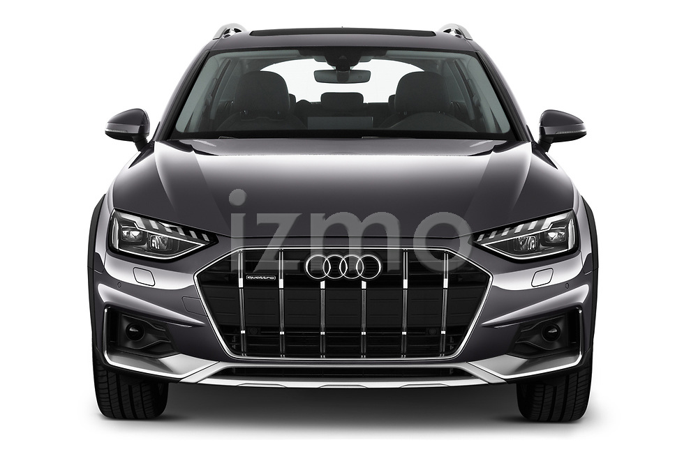 Car photography straight front view of a 2020 Audi A4-Allord Base 5 Door Wagon