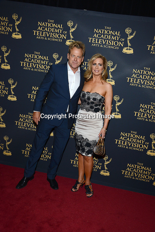 Kin Shriner and Martha Byrne attends the Creative Arts Emmy Awards on April 24, 2015 at the Universal l Hilton in Universal City,<br /> California, USA.
