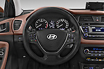 Car pictures of steering wheel view of a 2015 Hyundai I20 Intro Edition 5 Door Hatchback Steering Wheel
