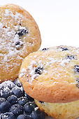 Royalty Free photos of blueberries and muffin