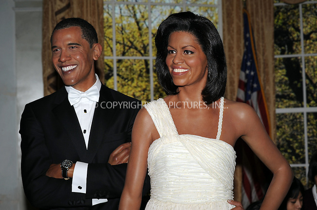 WWW.ACEPIXS.COM . . . . . ....January 26 2010, New York City....Wax figures of US President Obama and First Lady Michelle Obama on display at Madame Tussaud's on January 26 2010 in New York City. The Michelle Obama figure was unveiled as part of black history month.....Please byline: KRISTIN CALLAHAN - ACEPIXS.COM.. . . . . . ..Ace Pictures, Inc:  ..tel: (212) 243 8787 or (646) 769 0430..e-mail: info@acepixs.com..web: http://www.acepixs.com