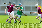 John Hussey Ballyduff in action against Colum Harty Causeway in the Hurling County Championship in Austin Stack Park on Sunday.