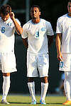 14 August 2015: North Carolina's Jordan McCrary. The University of North Carolina Tar Heels hosted the Winthrop University Eagles at Fetzer Field in Chapel Hill, NC in a 2015 NCAA Division I Men's Soccer preseason exhibition. North Carolina won the game 4-1.