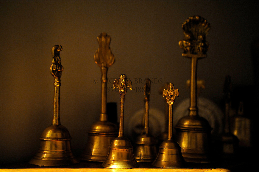 Hand bells at the Haidakhandi Universal Ashram near Crestone, CO. Michael Brands for The New York Times.