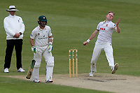 Sam Cook in bowling action for Essex during Worcestershire CCC vs Essex CCC, Specsavers County Championship Division 1 Cricket at Blackfinch New Road on 12th May 2018