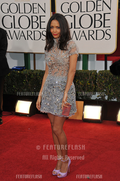 Thandie Newton at the 70th Golden Globe Awards at the Beverly Hilton Hotel..January 13, 2013  Beverly Hills, CA.Picture: Paul Smith / Featureflash
