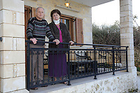 Pictured: John Hatton and wife Heather at their house Wednesday 15 February 2017<br /> Re: John and Heather Hatton, expat couple in Greece who are unable to sell their house in the village of Vamos, Chania, Crete to return to the UK because their neighbour won't pay his taxes.<br /> Heather Hatton needs to return to the UK for urgent medical care.
