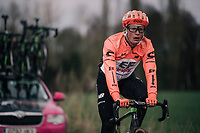 Matti Breschel (DEN/Education First-Drapac)<br /> <br /> parcours recon of the 116th Paris-Roubaix 2018, 3 days prior to the race