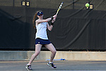 24 March 2016: Notre Dame's Brooke Broda. The North Carolina State University Wolfpack hosted the University of Notre Dame Fighting Irish at the J.W. Isenhour Tennis Center in Raleigh, North Carolina in a 2015-16 NCAA Division I Women's Tennis match. NC State won the match 4-3.
