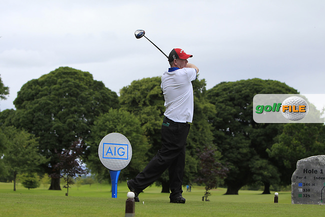 Jimmy Walshe (Tubbercurry) on the 1st tee during the AIG Jimmy Bruen Shield Semi-Finals of the AIG Connacht Cups &amp; Shields Finals 2016 at Ballinrobe Golf Club, Ballinrobe Co. Mayo on Friday 5th August 2016.<br /> Picture:  Golffile | Thos Caffrey<br /> <br /> All photos usage must carry mandatory copyright credit   (&copy; Golffile | Thos Caffrey)