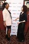 Patina Miller and Bebe Neuwirth attend the 2017 Drama League Award Nominees Announcements at Sardi's on April 19, 2017 in New York City.