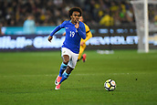 June 13th 2017, Melbourne Cricket Ground, Melbourne, Australia; International Football Friendly; Brazil versus Australia; Willian Silva of Brazil as he runs towards goal with the ball