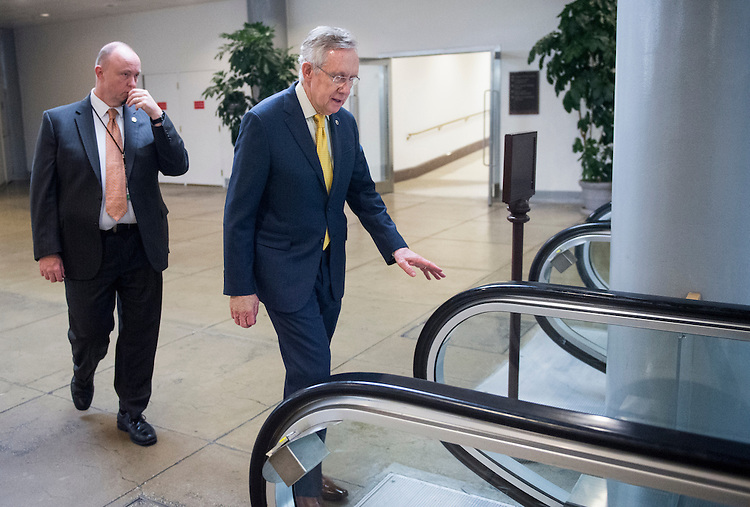 UNITED STATES - DECEMBER 4: Senate Majority Leader Harry Reid, D-Nev., arrives in the Capitol from the Capitol Visitor Center on Tuesday, Dec. 4, 2012. (Photo By Bill Clark/CQ Roll Call)