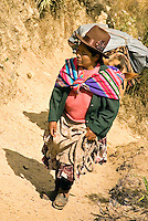 Women in the Peruvian highlands display a blend of pre-colonial influences with the European clothing. The traditional Inca anacu was transformed by the local women into the brightly-colored and multi-layered petticoats known as polleras. The Peruvian poncho dates back to the 17th century.