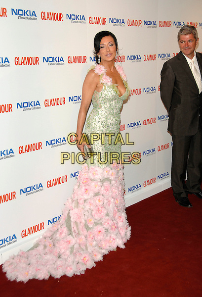 NANCY DELL'OLIO.Inside Arrivals at Glamour magazine's 4th Annual Woman of the Year Awards, held at Berkley Square Gardens, London, England, 5th June 2007..full length green and pink long maxi dress gown flowers.Ref: CAP/PL.©Phil Loftus/Capital Pictures