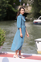 VENICE, ITALY - September 02: Margaret Qualley arrives in Darsena Excelsior during the 76th Venice Film Festival  on September 02, 2019 in Venice, Italy. (Photo by Mark Cape/Inside Foto)<br /> Venezia 02/09/2019