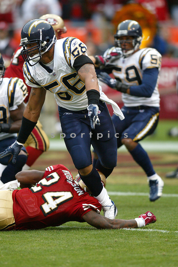 SHAWNE MERRIMAN, of the San Diego Chargers , in action against the   San Francisco 49ers  on October 15, 2006 in San Francisco, CA..Eagles win 48-10..Rob Holt / SportPics.