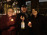 Maeve Healy, Paddy Smith and Pauline Connor representing Drogheda Cenior Citizens who took part in the candlelight ceremony at the Cottage hospital. Photo:Colin Bell/pressphotos.ie