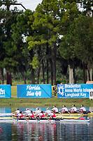 Sarasota. Florida USA. Women'd Quadruple sculls final POL W4X. GBR W4X and USA W4X. Bow.Elizabeth SONSHINE, Maureen MCAULIFFE, Kara KOHLER and Emily HUALSKAMO. Final A. 2017 World Rowing Championships, Nathan Benderson Park<br /> <br /> Saturday  30.09.17   <br /> <br /> [Mandatory Credit. Peter SPURRIER/Intersport Images].<br /> <br /> <br /> NIKON CORPORATION -  NIKON D4S  lens  VR 500mm f/4G IF-ED mm. 200 ISO 1/1250/sec. f 4