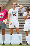 22 August 2014: Ohio State's Lindsay Agnew. The Duke University Blue Devils played The Ohio State University Buckeyes at Fetzer Field in Chapel Hill, NC in a 2014 NCAA Division I Women's Soccer match. Ohio State won the game 1-0.