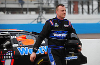 Apr 16, 2009; Avondale, AZ, USA; NASCAR Camping World Series West driver Daryl Harr prior to the Jimmie Johnson Foundation 150 at Phoenix International Raceway. Mandatory Credit: Mark J. Rebilas-